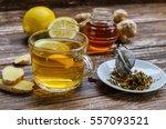 fresh natural ginger herbal tea