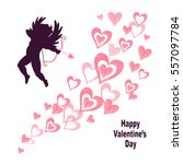 valentines day card design with ... | Shutterstock .eps vector #557097784