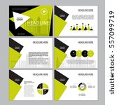 business template design set... | Shutterstock .eps vector #557099719