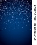 starfield glowing stars on blue ... | Shutterstock .eps vector #557103535