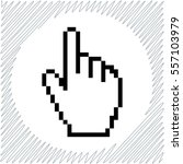 pixel hand vector icon   black  ... | Shutterstock .eps vector #557103979