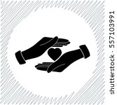 save love vector icon   black ... | Shutterstock .eps vector #557103991
