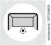 football gates vector icon  ... | Shutterstock .eps vector #557104825