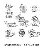 set of handwritten lettering... | Shutterstock . vector #557105485