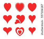 abstract hearts collection...   Shutterstock .eps vector #557106187
