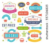 sale labels and tags design... | Shutterstock .eps vector #557106835