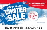 winter sale banner  vector... | Shutterstock .eps vector #557107411