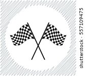racing flag vector icon   black ... | Shutterstock .eps vector #557109475