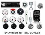 car parts set. 3d illustration... | Shutterstock . vector #557109685