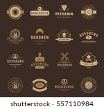 bakery shop logos  badges and... | Shutterstock .eps vector #557110984