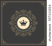 ornament logo design template... | Shutterstock .eps vector #557111014