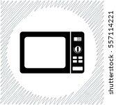 microwave vector icon   black ... | Shutterstock .eps vector #557114221