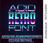 acid 80's and 90's retro style... | Shutterstock .eps vector #557114305