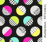 cute 80's style seamless... | Shutterstock . vector #557114611