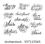 set of black and white hand... | Shutterstock . vector #557115565