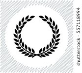 laurel wreath vector icon  ... | Shutterstock .eps vector #557118994