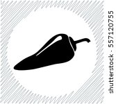 chili pepper vector icon  ... | Shutterstock .eps vector #557120755