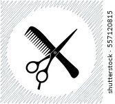 hair salon with scissors and... | Shutterstock .eps vector #557120815