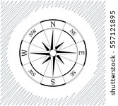 windrose compass vector icon  ...   Shutterstock .eps vector #557121895