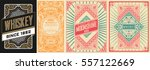set of old cards | Shutterstock .eps vector #557122669