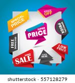 offer and sale labels  stickers ... | Shutterstock .eps vector #557128279
