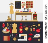 collection of elements for... | Shutterstock .eps vector #557131654
