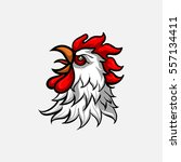 vector head rooster | Shutterstock .eps vector #557134411
