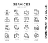set line icons of services | Shutterstock .eps vector #557137831