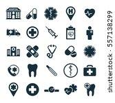 medical icons set on white...   Shutterstock .eps vector #557138299