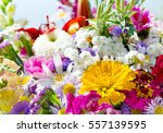 Close Up Of Bouquet Of Various...