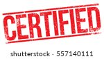 certified stamp | Shutterstock .eps vector #557140111