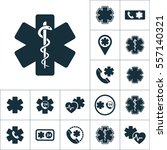 life star snake icon  medical... | Shutterstock .eps vector #557140321