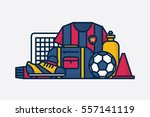 vector football   soccer... | Shutterstock .eps vector #557141119