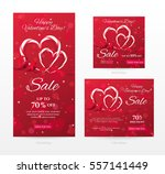 set of elegant sale banners of... | Shutterstock .eps vector #557141449
