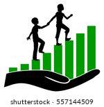 raising siblings to be friends. ... | Shutterstock . vector #557144509