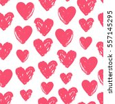 seamless pattern for valentine... | Shutterstock . vector #557145295