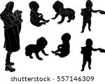 illustration with mother and...   Shutterstock .eps vector #557146309