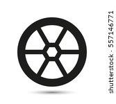 automotive wheel icon | Shutterstock .eps vector #557146771