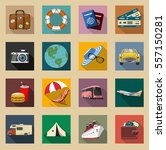 colored vintage travel and... | Shutterstock .eps vector #557150281