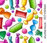 seamless pattern with candy