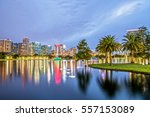 downtown orlando from lake eola ... | Shutterstock . vector #557153089