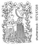 vector illustration girl... | Shutterstock .eps vector #557157205