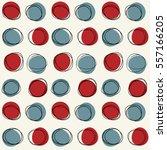 vector seamless mid century... | Shutterstock .eps vector #557166205