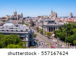panoramic views of madrid from... | Shutterstock . vector #557167624