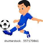 cute boy soccer player   Shutterstock . vector #557170861
