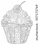 cake coloring book for adults...   Shutterstock . vector #557172769