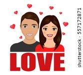 love couple. love letter.... | Shutterstock .eps vector #557172871