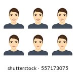young man face expressions... | Shutterstock .eps vector #557173075