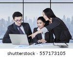 portrait of female entrepreneur ... | Shutterstock . vector #557173105