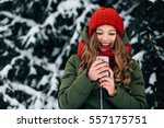 Smiling Girl With Mobile Phone...